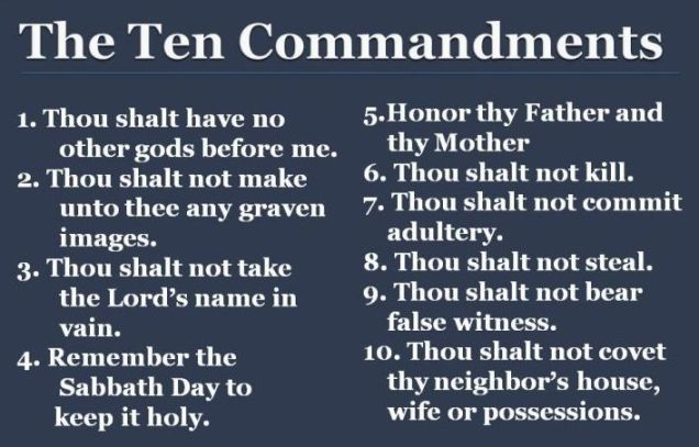 10 commandments